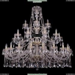 2767/5 Odeon Light 191 медн./дерево/стекло Люстра E27 5*60W 220V FABO (Одеон Лайт)